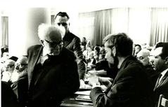 A young Uri with Ben Gurion in the Knessett