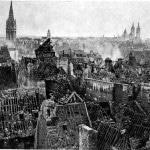 Caen, France, in ruins, 1944