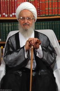 Grand Ayatullah Nasir Makarem Shirazi in his office where we visited him last week