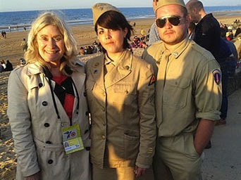 Dressed in WWII Uniforms