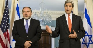 Foreign Minister Avigdor Lieberman of Israel meets with Secretary of State John Kerry