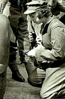 Then Princess Elizabeth - Elizabeth Windsor, service number 230873, volunteered as a subaltern in the Women's Auxiliary Territorial Service, training as a driver and a mechanic. Eventually, she drove military trucks in support roles in England.