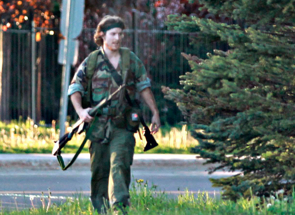 How did it happen that this young man, Justin Bourque, was able to stroll down the street in Moncton New Brunswick to kill and wound five heavily-armed RCMP officers?