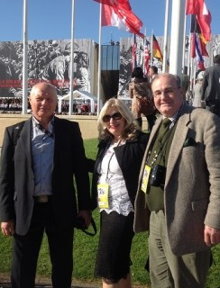 Gennady, Jane and Michael at D-Day 70 Commemoration