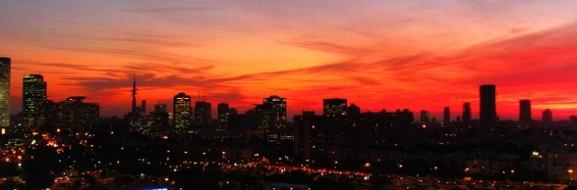 Sunset over Tel Aviv