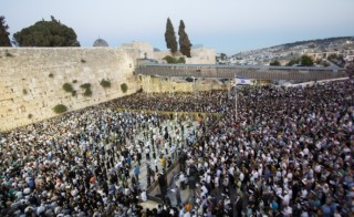 Thousands gather to pray for the abducted boys at Jerusalem's Western Wall