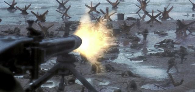 Movie scene of D-Day
