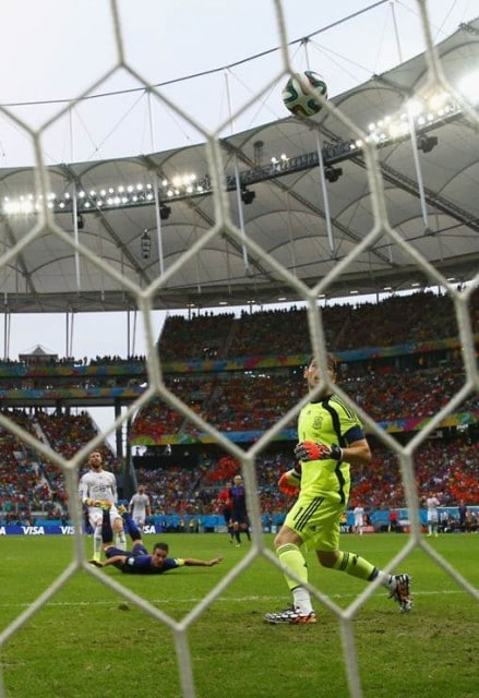 Van Persie's equalizer from the back of Spain's net.