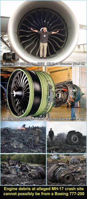 Alleged Crash site engine debis not from B-777