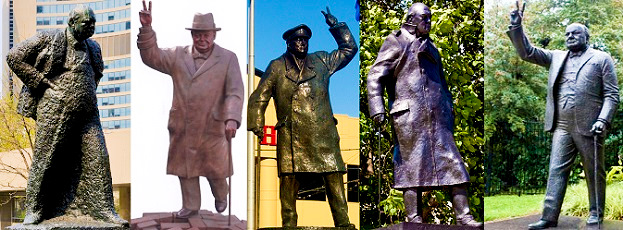 Some think these are statues to a warmonger...Churchill