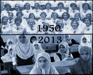 Egyptian school girls of 1950s vs 2013
