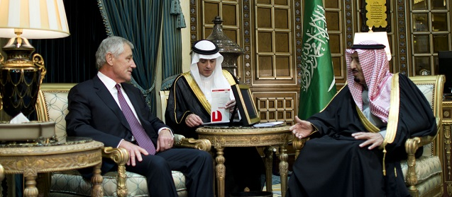 Hagel visits Riyadh
