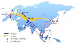 Location of Navoi airport