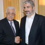 PA President Mahmoud Abbas and Hamas' Khaled Mechaal