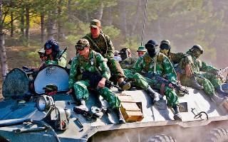 Russian tank during the Georgia-Russia war, 2008
