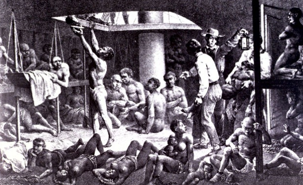 Uprooted and Enslaved Africans Being Transported to Work the Plantations of the Sugar Islands