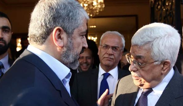 Khaled Meshaal. Leader of the Political Wing of Hamas, Achieves a Unity Position with Fatah Leader, Mahmoud Abbas