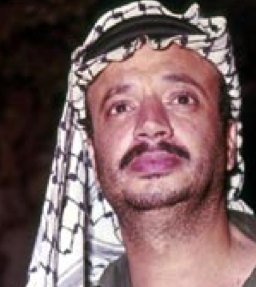 Yasser Arafat of the More Secular and Socialist Palestinian Liberation organization