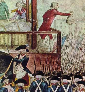 Beheading of the Dethroned Luois XVI in the Place de la Revolution, 1794.