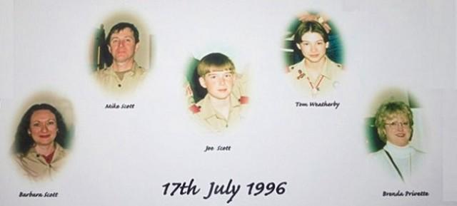 TWA flight 800 memorial to Alabama victims