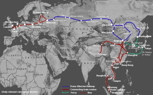 Like the Western United States was developed along the railroads, China and Russia might repeat a new version in the 21rst Century