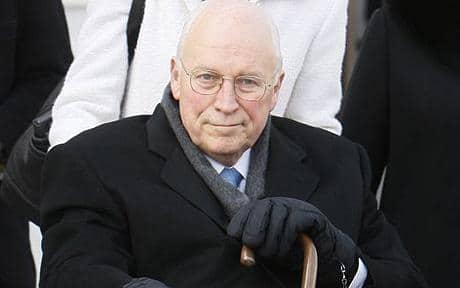 Cheney at Obama's 2009 inauguration