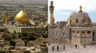 Middle East (from left to right) before and after the war