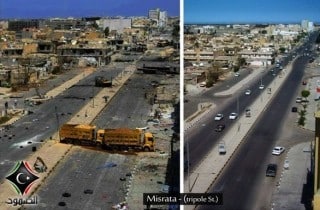 Iraq (from right to left) before and after the war