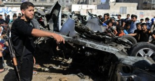Residents see aftermath of IAF strike on Gaza strip