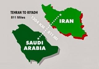 811 miles from Riyadh to Tehran