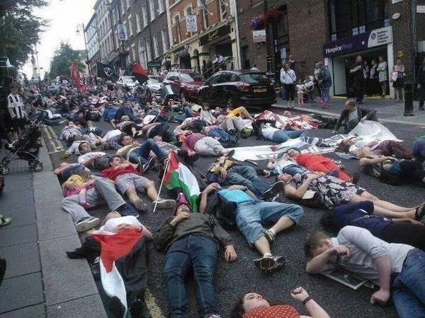Protests in Ireland yesterday.  One of the many around the world in support of TEAM PEOPLE