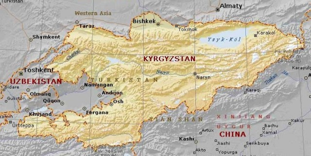 You can see Tashnet on the left in Uzbekistan
