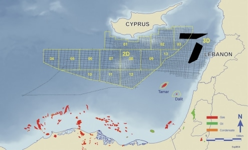 """The reserves off Gaza...only a few maps still show them. The others have been """"cleaned""""."""