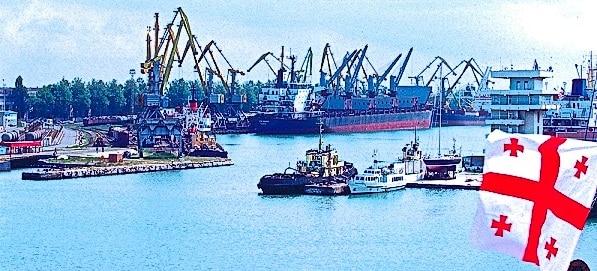 Port of Poti in Republic of Georgia