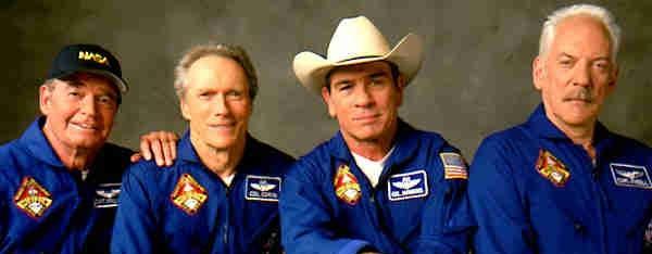 Space Cowboys, Garner, Eastwood, Jones, Sutherland