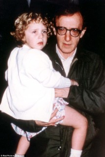 Woody Allen holding Dylan