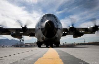 HC-130J Super Hercules military transport aircraft