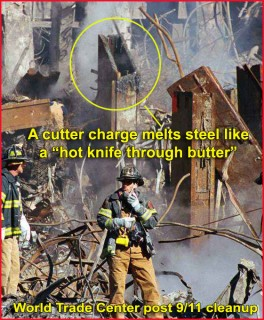 Nano-thermite cutter charge twin towers