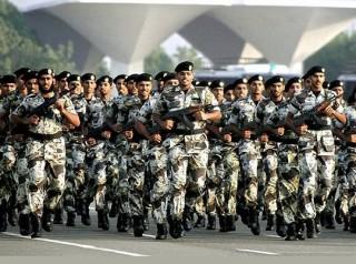 Saudi Arabian National Guard military parade