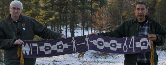 Wampum Belt presented by Sir William Johnson in 1764 to formalize the treaty proceedings where he explained to delegations from 24 Indian nations the prprinciples of the Royal Proclamation of 1763