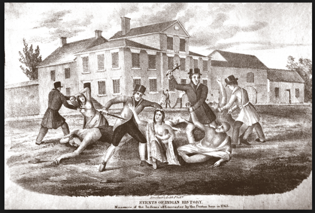 The so-called Paxton Boys registered their hostility to the Royal Proclamation of 1763 by going on a killing spreee murdering many pacifist Christian Indians. The Anglo-American hostility to the Royal Proclamation initiated the process which gave rise to the civil war in British North America now remembered as the American Revolution.