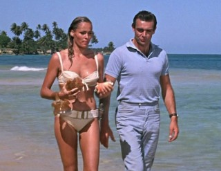 Ursula Andress and Sean Connery in Dr. No.