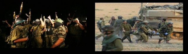 Hamas fighters, July 2014, caused numerous IDF casualties
