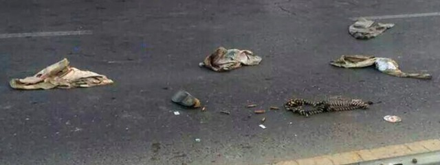 """""""No blood on the highway - just Iraqi army uniforms when they cut and ran."""""""