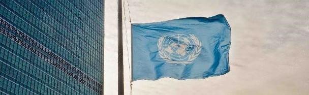 UN Flag at Half Staff
