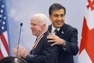 McCain with Misha Saakashvili