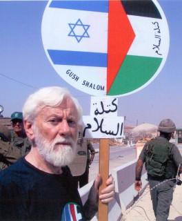 Uri at a Gush Shalom protest