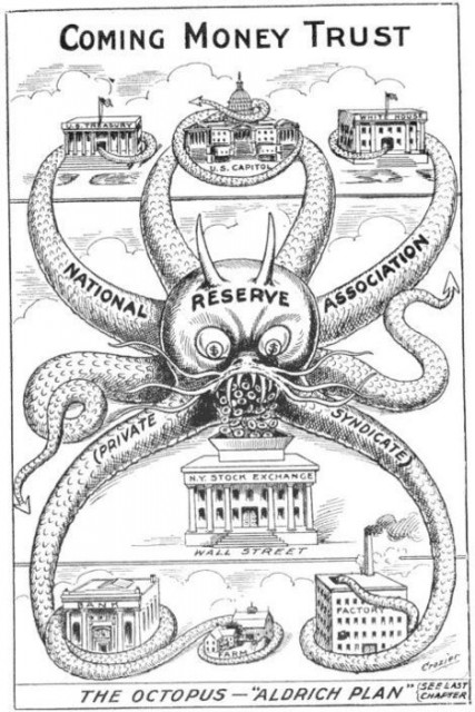 1912-Cartoon-One-Year-Before-The-Creation-Of-The-Federal-Reserve