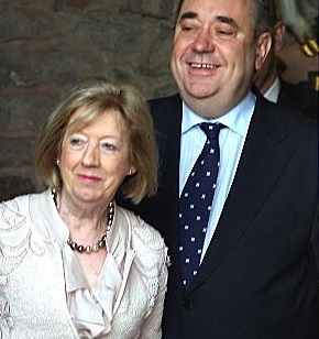 Alexander Salmond and wife, Moira