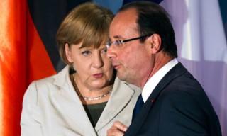 Angela Merkel with Francois Hollande
